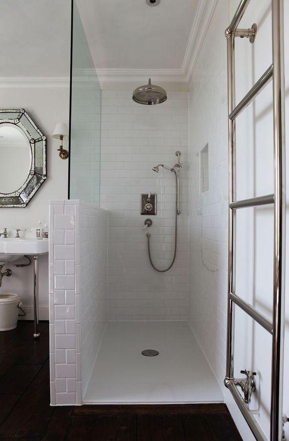 Douche italienne  33 photos de douches ouvertes Bathroom laundry - salle de bains douche italienne