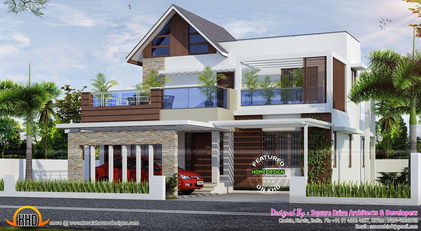 Kerala Modern House Home Designs Pinterest Home Design Home - Colonial style home design in kerala