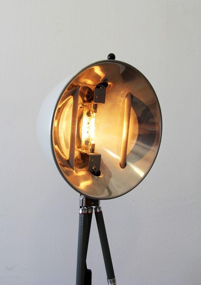 Tripod Steh Tisch Arbeits Arzt Lampe Foto Stativ Vintage Bauhaus
