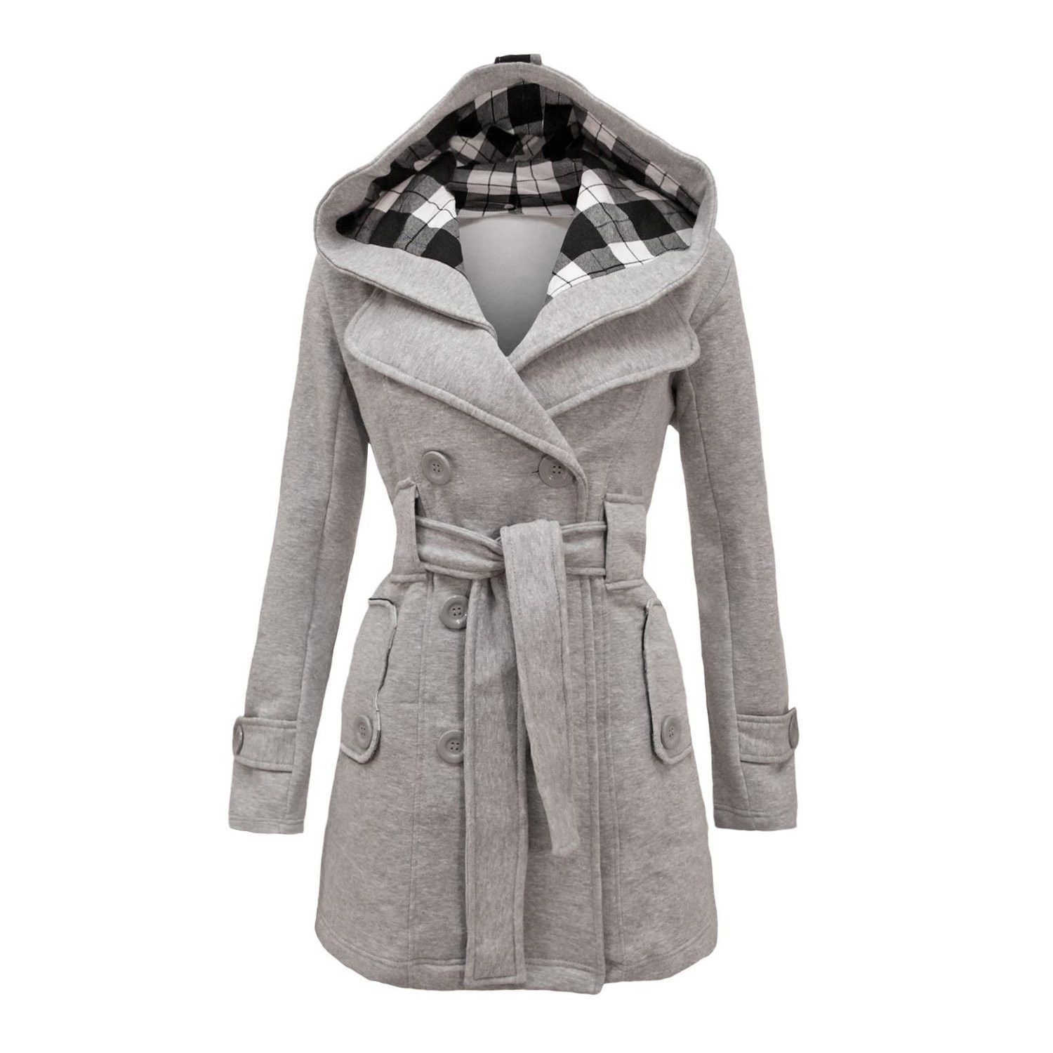 8c85d152dd Don t want wear normal coats again  This hooded long coat will your best  choice. This woolen coat with plus size XXL and XXXL