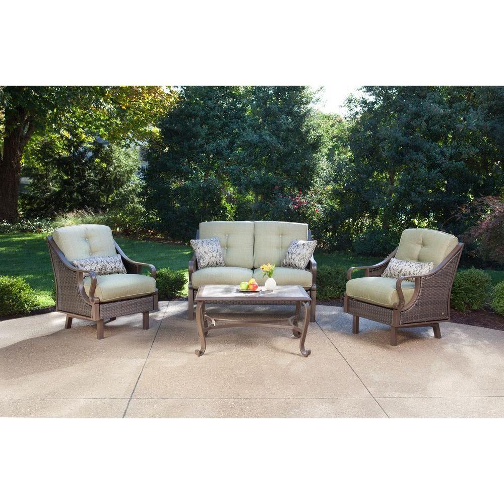 Hanover ventura piece patio conversation set with vintage meadow