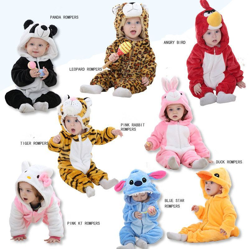 ddedc8f3ab2 KID STATION baby boy girls rompers clothes new born baby Cartoon Jumpsuit  warm spring autumn.