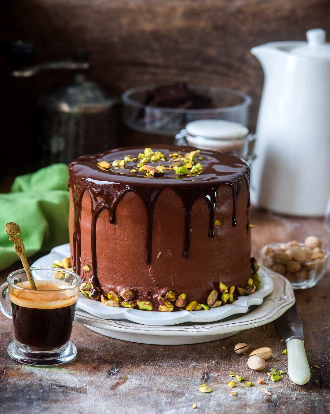 Шоколадно-фисташковый торт | Пироги,торты, тарты, кексы ...