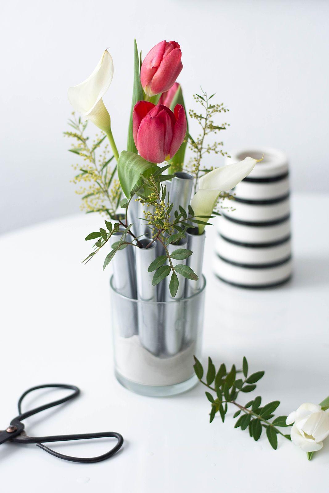 nachmachtipp silbernes vasen ensemble kreativideen. Black Bedroom Furniture Sets. Home Design Ideas