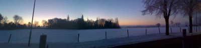 Winters uitzicht vanuit Terralinde Vakantiehuis