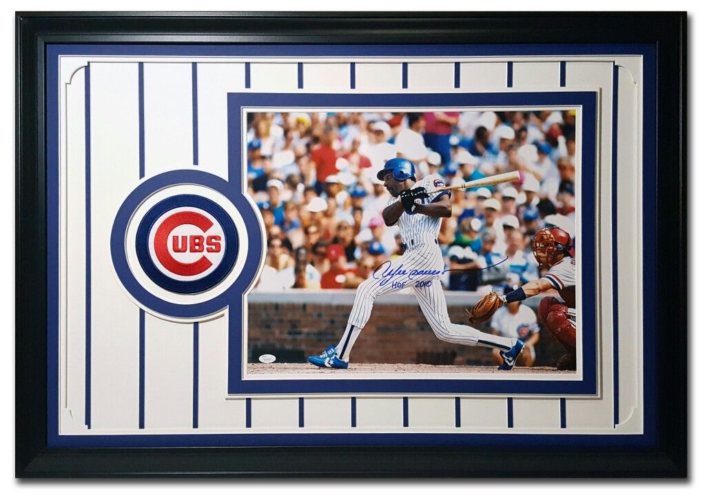 Andre Dawson. Chicago Cubs. Framed 16x20 photo in 24x36 frame with ...