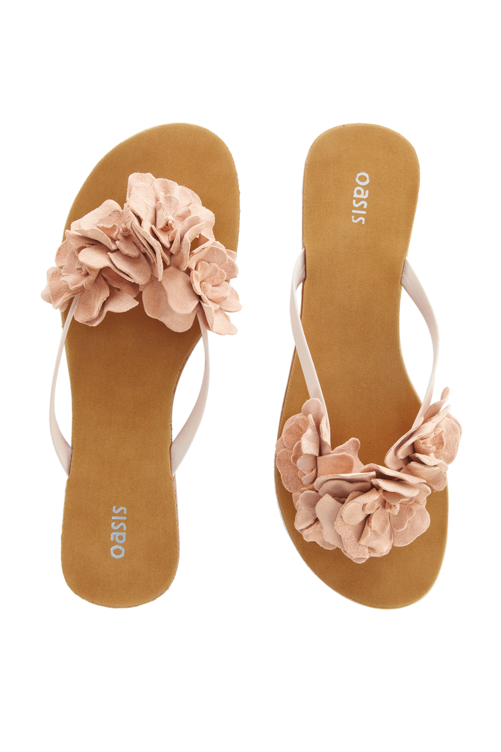 42fb89fe8f06 Oasis floppy flower toe post sandals