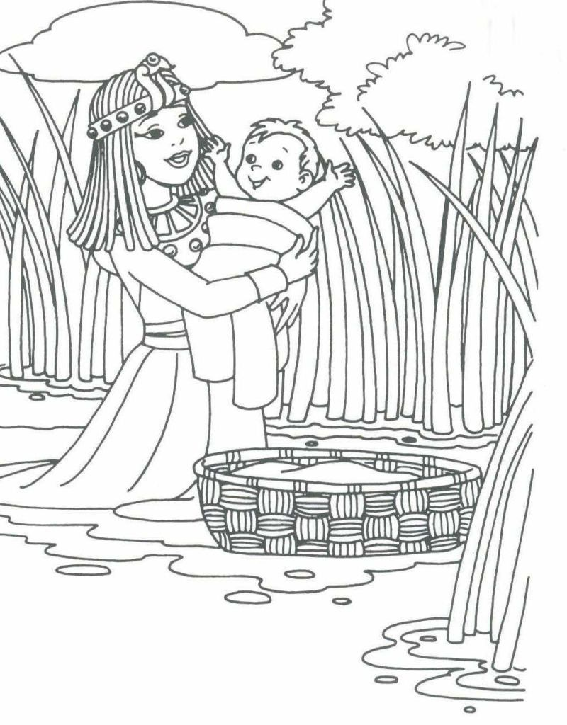 Pharaoh\'s daughter with baby Moses (Exodus 2) | uskonto | Pinterest ...