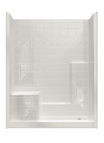 Mp Solid Surface Tile Sectional 60 X 32 Shower Left Hand Seat