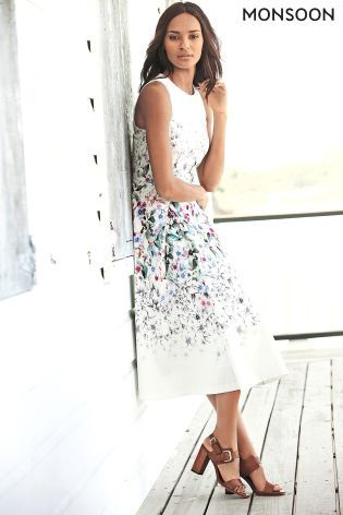 Buy White Monsoon Nelly Placement Prom Dress from the Next UK online ...