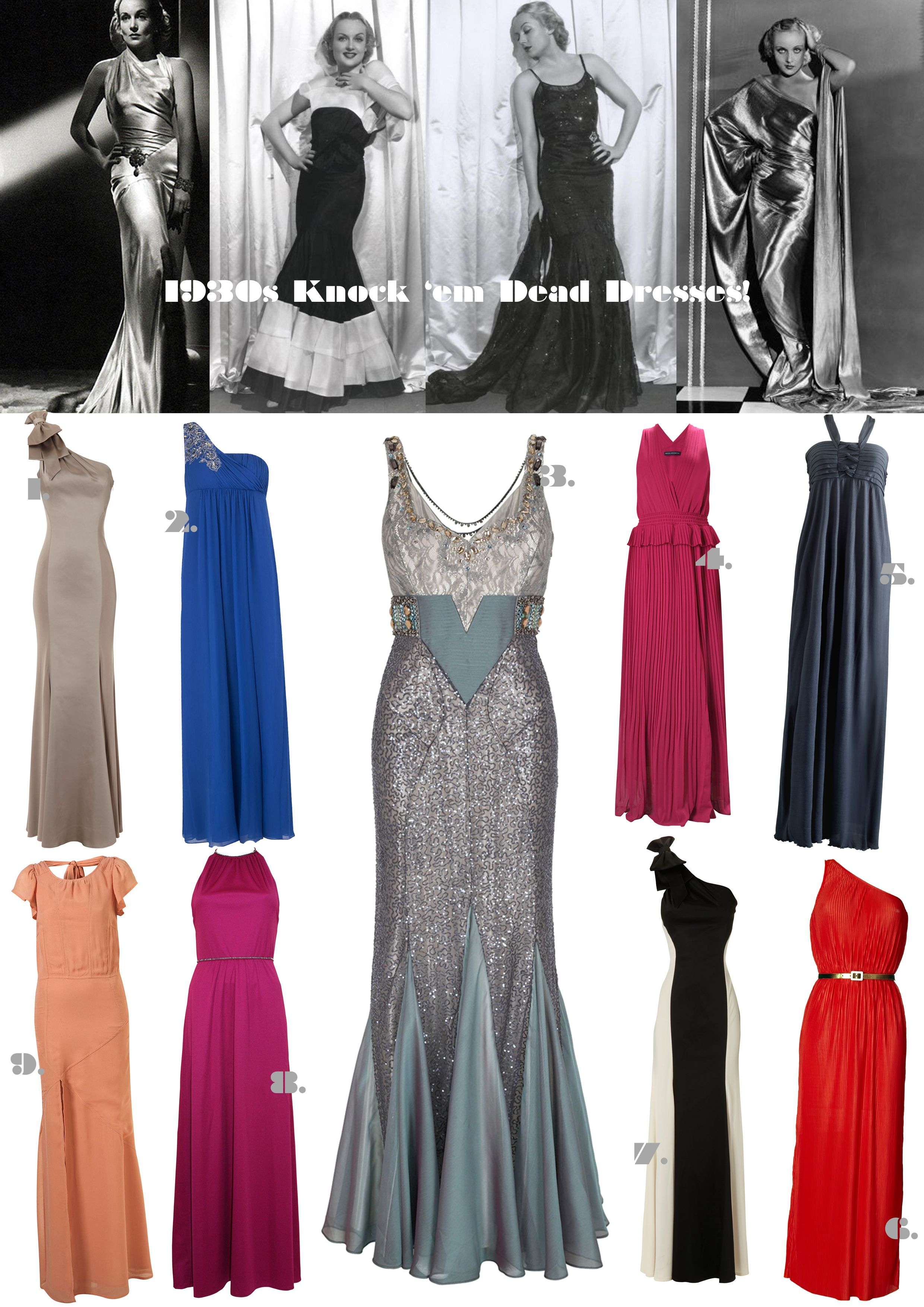 1930s Dress Selection Fashion 1930 S Dresses Backless Dress Formal [ 3508 x 2480 Pixel ]