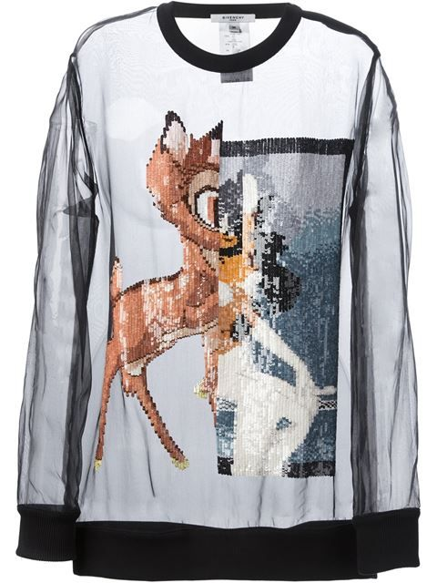 "#FarfetchFairytale Achetez Givenchy top ""Bambi"" en Luisa World from the world's best independent boutiques at farfetch.com. Over 1000 designers from 300 boutiques in one website."