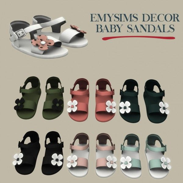 Leo Sims - Decor baby sandals for The Sims 4 #toddlers