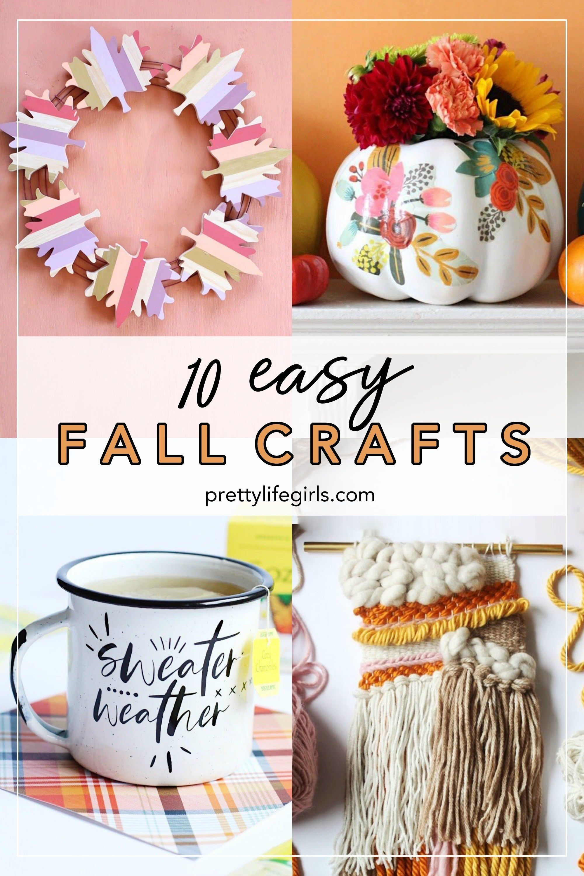 Top 10 Easy Fall Crafts The Pretty Life Girls Diy