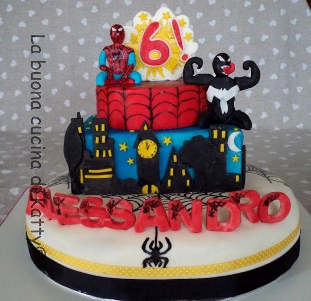 la buona cucina di katty torta spiderman e venom spiderman and venom cake my torte. Black Bedroom Furniture Sets. Home Design Ideas
