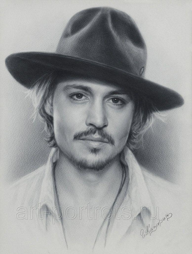 Johnny depp portrait drawing fan art pencil art pencil