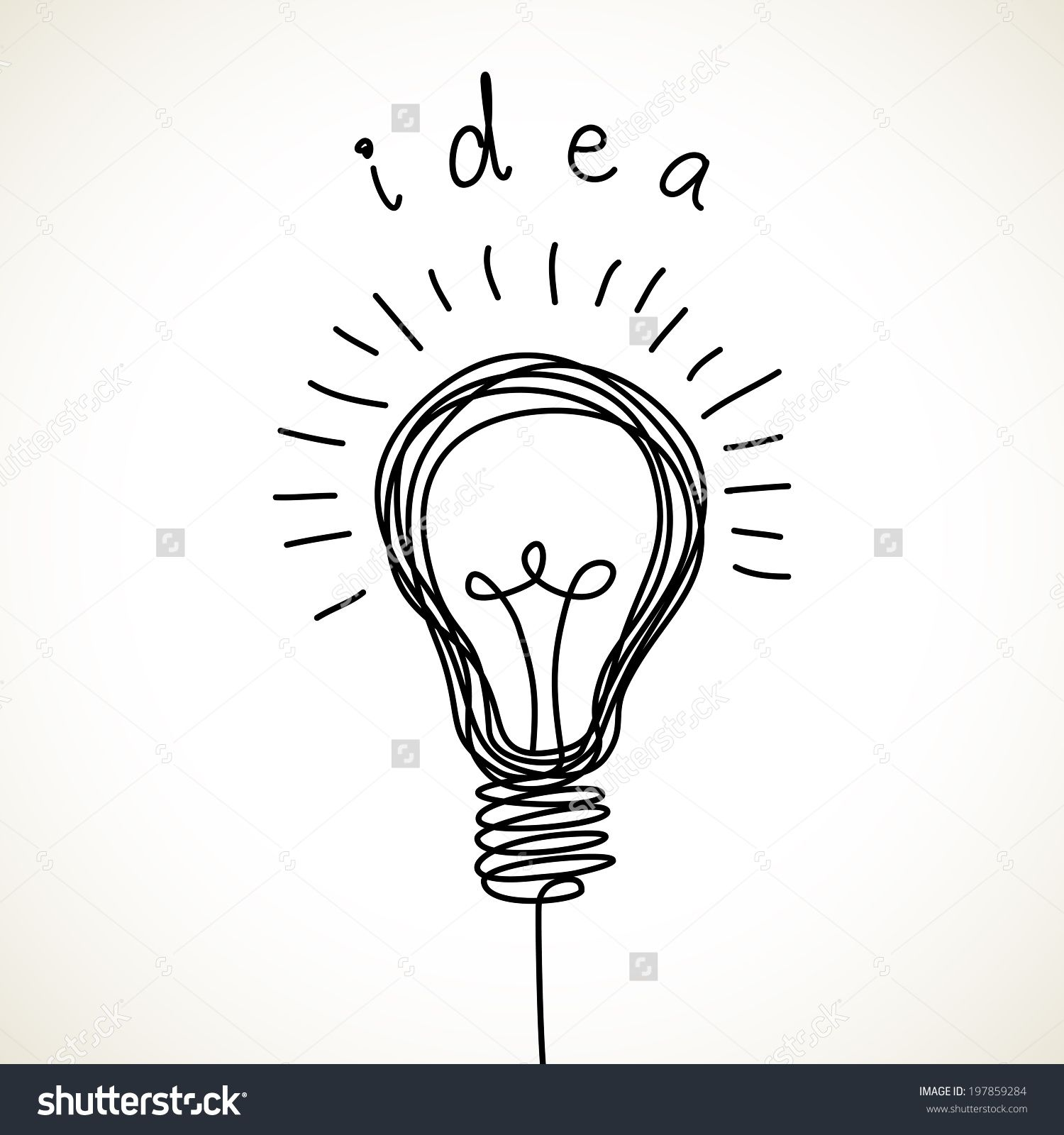 Vector Light Bulb Icon With Concept Of Idea Illustration For Print Web