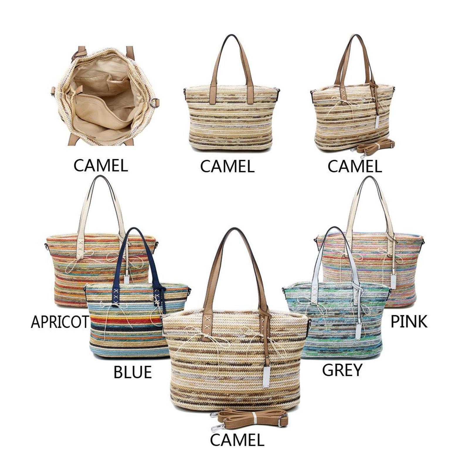 100% hohe Qualität Großbritannien Sonderangebot DAMEN TASCHE FLECHTOPTIK SHOPPER Strandtasche Umhängetasche ...