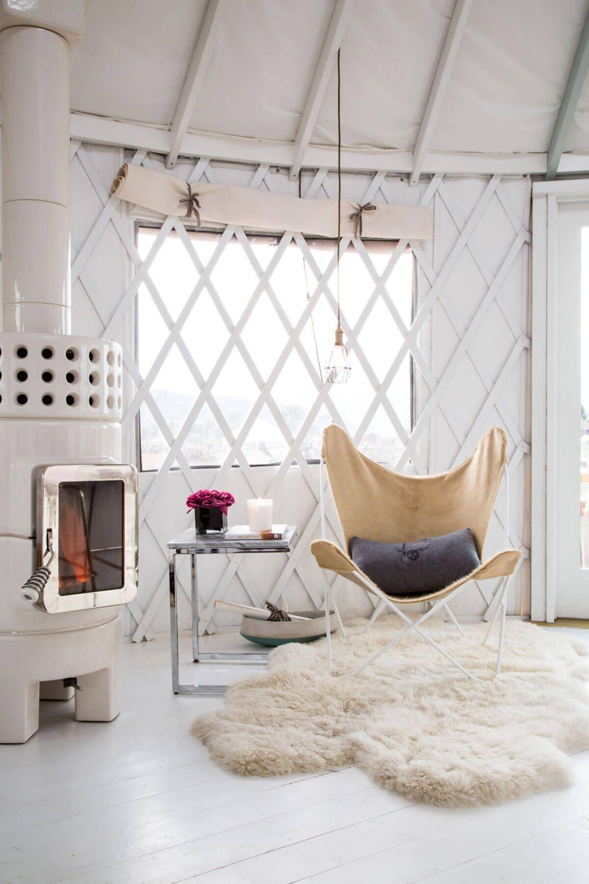 Modern yurt | Yurt interior | Pinterest | Yurts, Modern and Yurt ...