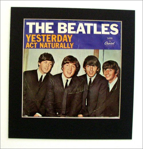 Beatles - Yesterday (1965)  It's been 43 years but it seems like Yesterday, a not too far reaching segue into this highly collectible piece of Album Cover Art. Items like this have the same collectible characteristics of Fine Art; enduring appeal, recognition and appreciation. It's similar to collecting a rare Picasso!