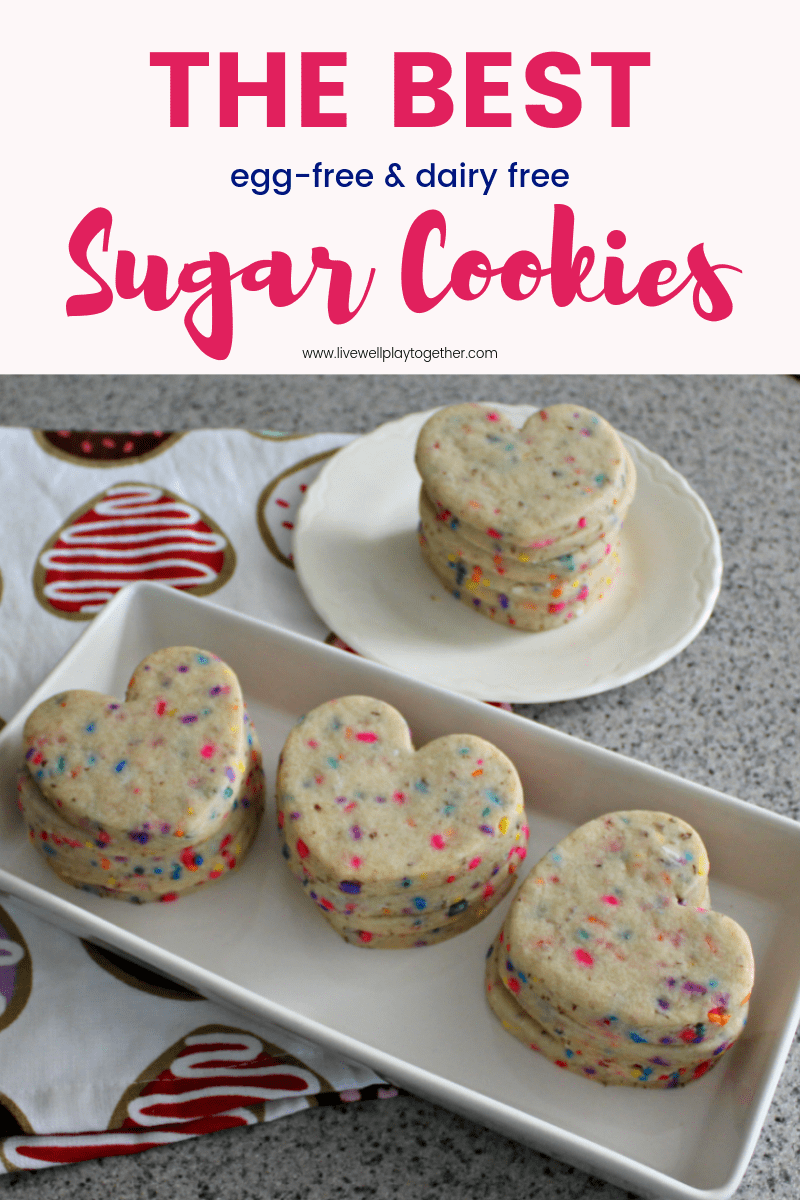 The Best Egg Free Dairy Free Sugar Roll Out Cookie Recipe #dairyfree