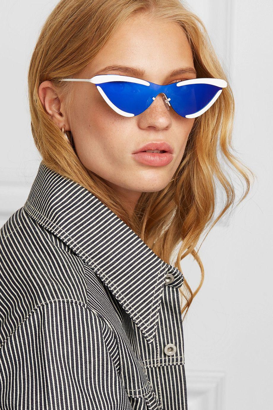 Le Specs   + Adam Selman The Scandal cat-eye metal mirrored sunglasses    NET-A-PORTER.COM 231d1a97c33c
