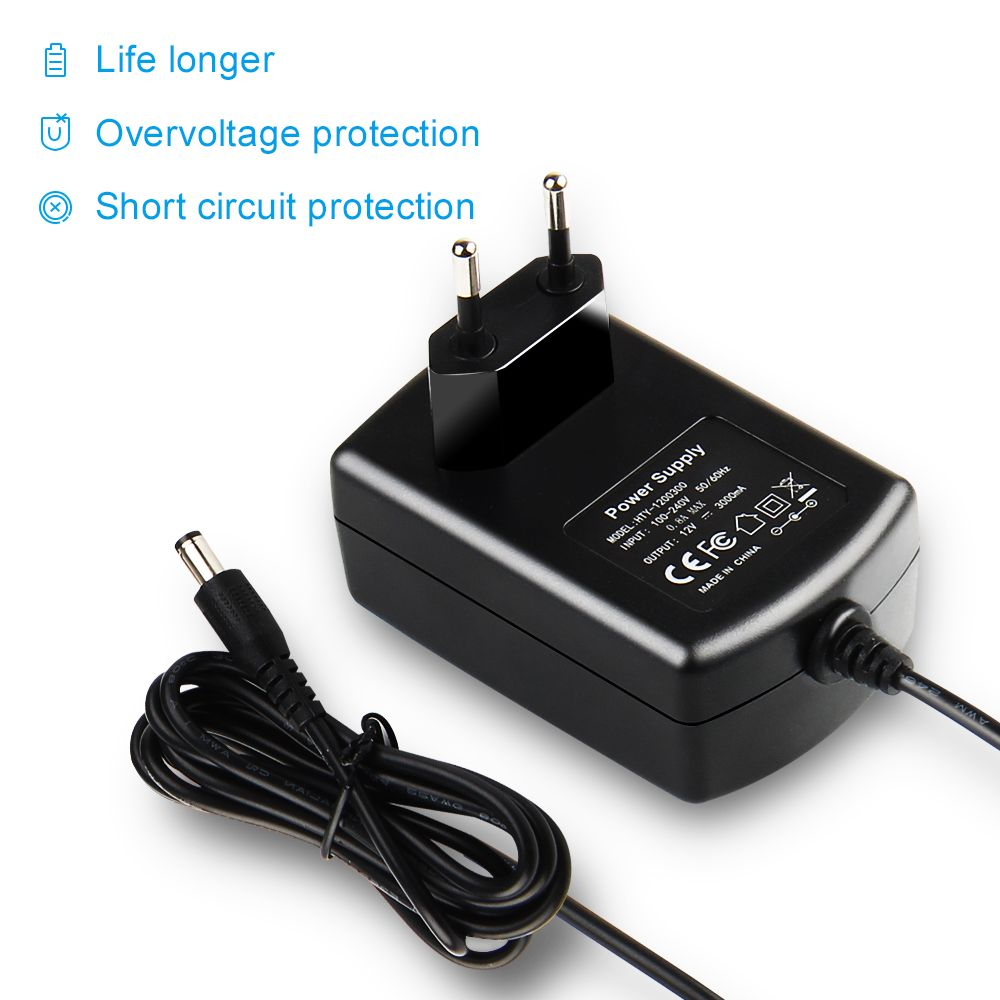 Lighting Accessories 12v 3a 36w Wall Charger Ac 110v 220v To Dc 12v Converter Universal Power Supply Adapter For Led St In 2020 Wall Charger Switches Security Camera