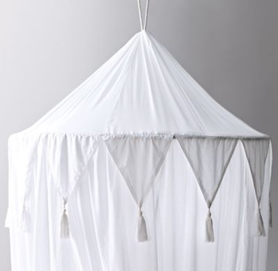 RH Baby u0026 Childu0027s Cotton Voile Play Canopy - WhiteA little imagination goes a lot further when itu0027s accompanied by our hanging canopy which transforms any ... & Cotton Voile Play Canopy | white | 36