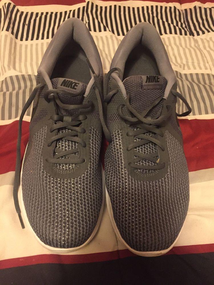 4419c142cb98 Nike 908988-010  Men s Revolution 4 Dark Gray Running Sneakers size 14   fashion