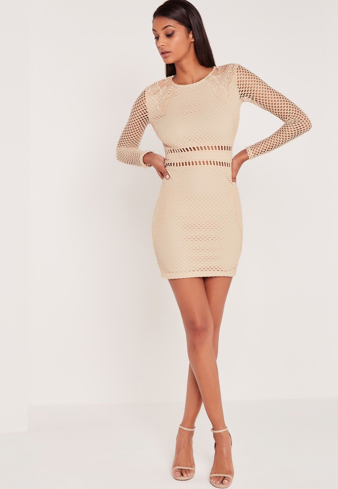 Suzy scallop lace bodycon dress