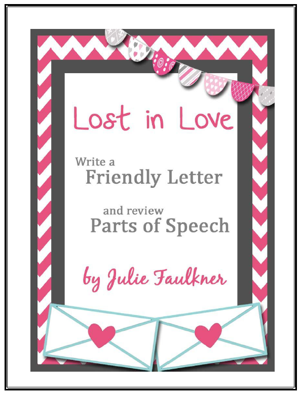 FREE LANGUAGE ARTS LESSON  Valentines Day Friendly Letter