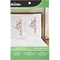 Bridal Bouquet Pillowcases Stamped Embroidery His /& HersBucilla 45075