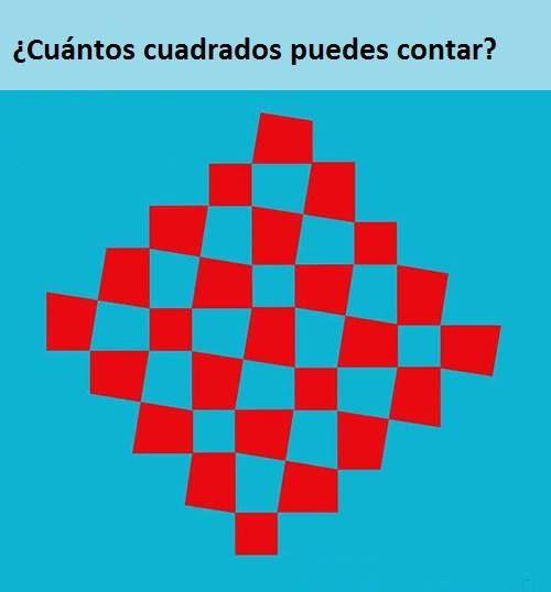 ¿Cuántos cuadrados ves?
