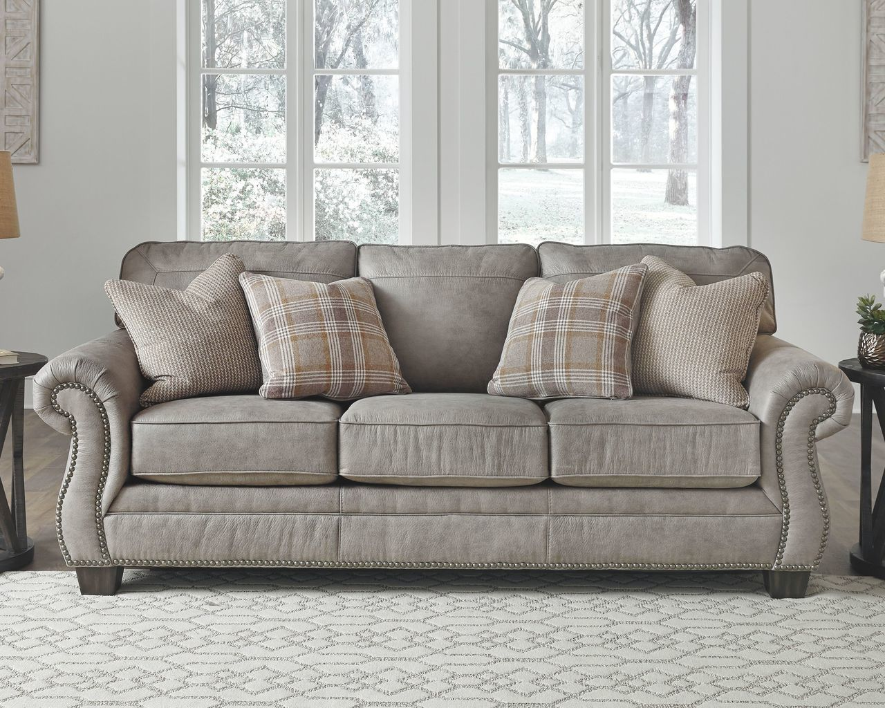 Ashley Olsberg Steel Sofa Couch On Sale At Wcc Furniture