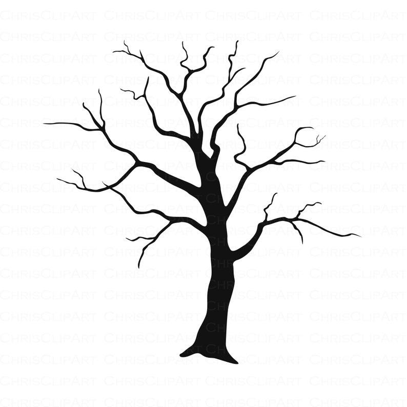 Tree Svg Clipart Tree Horror Svg Halloween Clipart Trees Etsy Tree Svg Halloween Clipart Spooky Trees