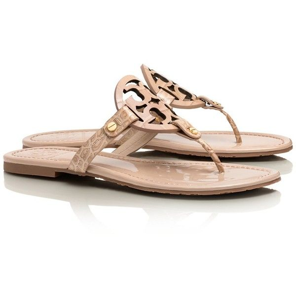 a15ac96e5526 Tory Burch Croc Print Miller Sandal ( 158) ❤ liked on Polyvore featuring  shoes