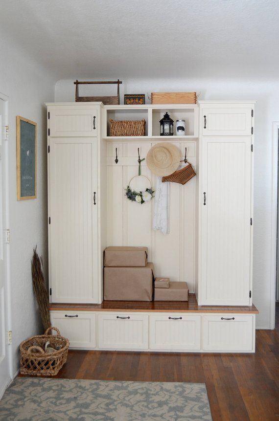 Mudroom Cabinet Entry Cabinet Reclaimed Wood Mudroom