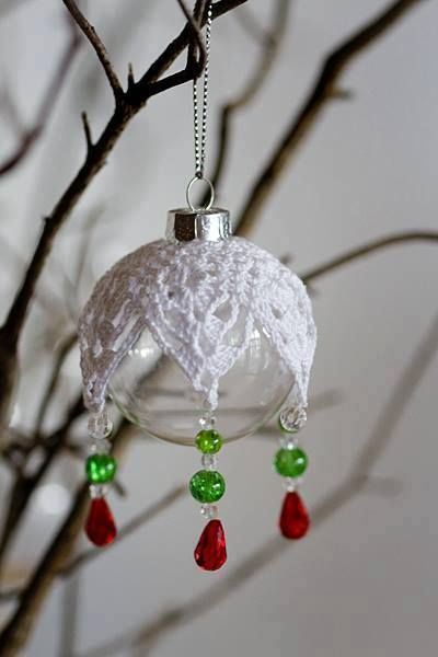 Crocheted Ornament Cover Crochet Christmas Ornaments Christmas