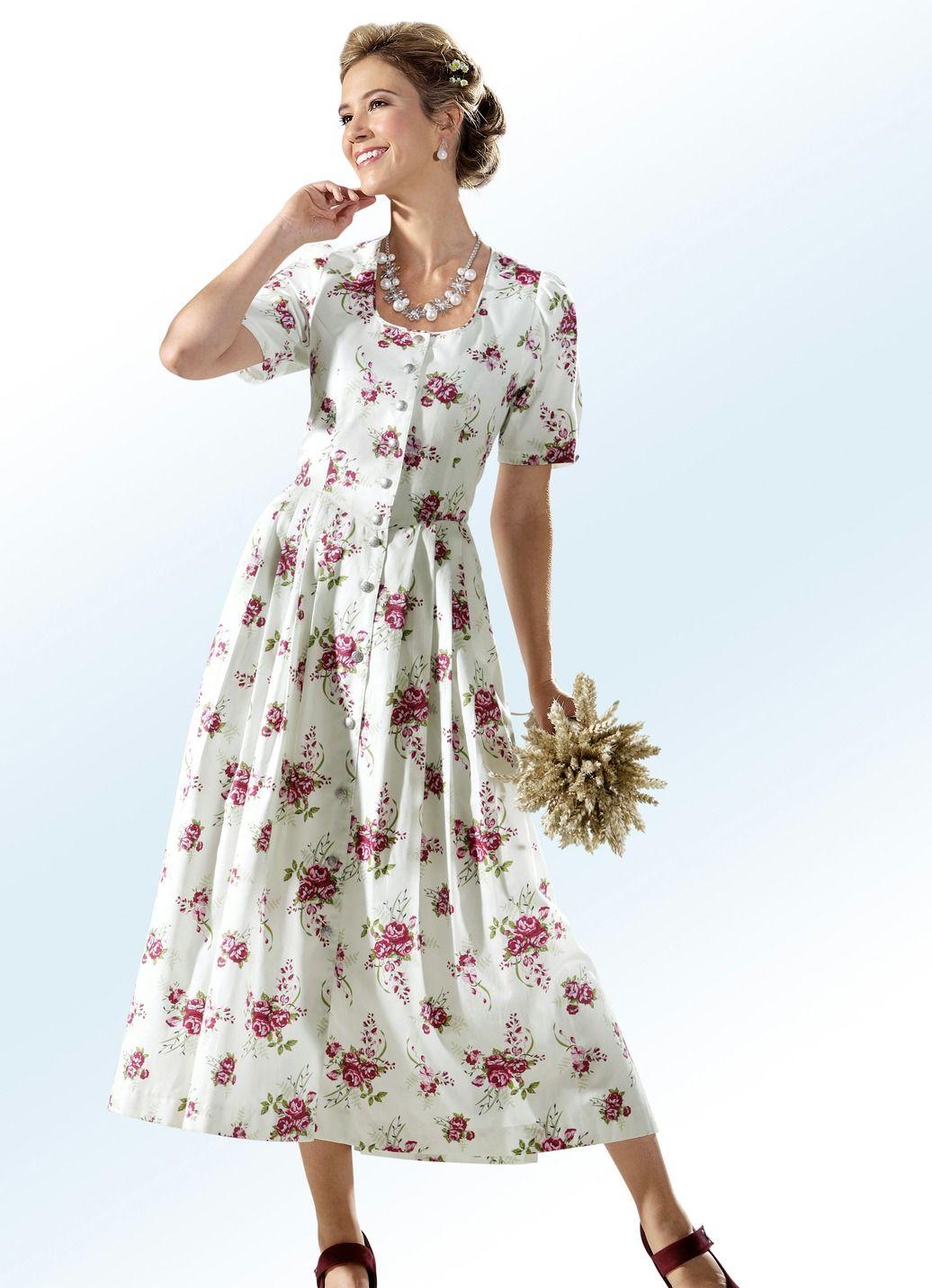 19d6bf05e3 Landhauskleid mit durchgehender Schmuckknopfleiste | Lovly Dress | Dresses,  Wrap Dress und Blouse