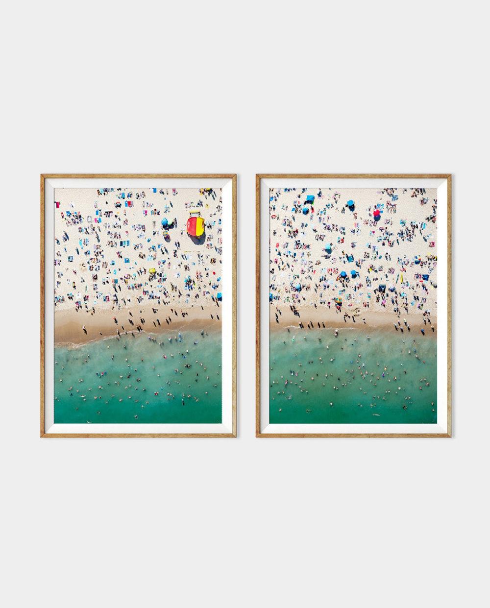 Bondi Life // 2-Piece Set Large Mediterranean Beach Poster