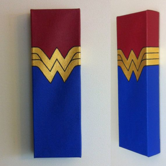 Wonder Woman Canvas Painting By Deveaudesigns On Etsy Wonder Women