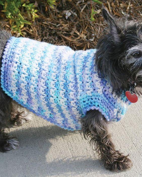 Free Crochet Dog Sweater Pattern From RedHeart.com   crochet   Pinterest