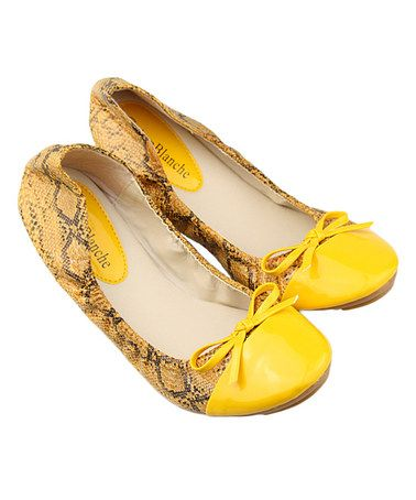 This Snake Caprice Ballet Flat is perfect! #zulilyfinds