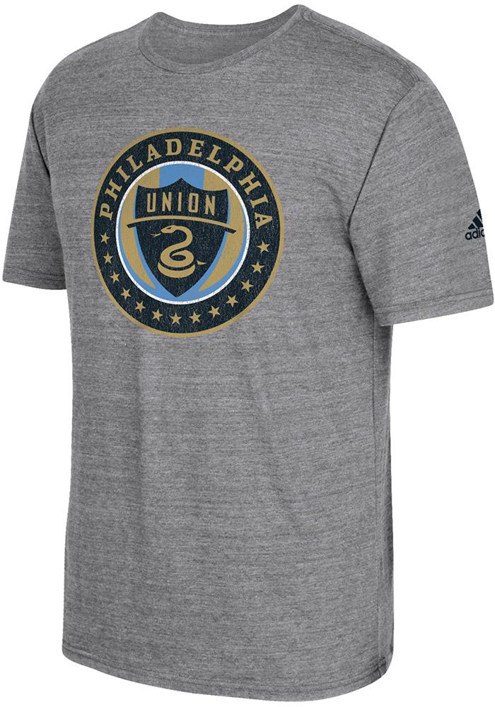 a858bdebc9ba Adidas Philadelphia Union Grey Vintage Too Short Sleeve Fashion T Shirt
