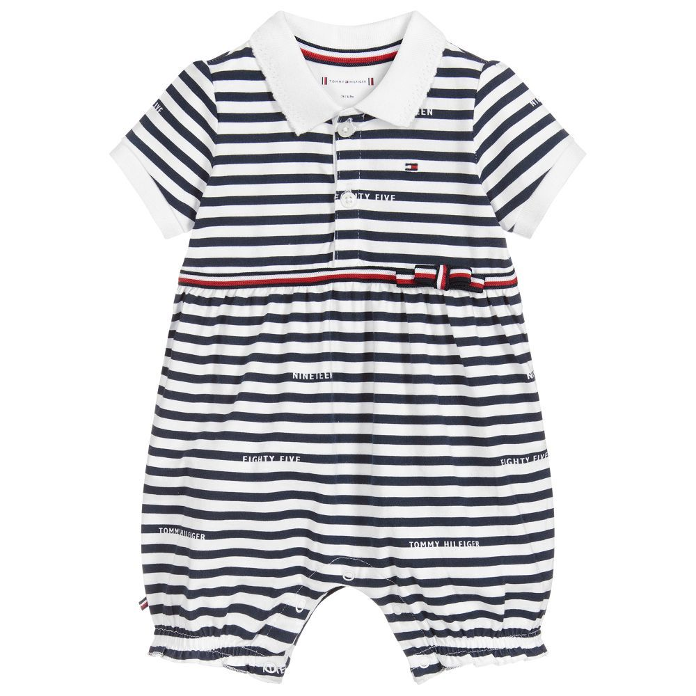 1c68cd6de04c Baby girls cotton jersey shortie by Tommy Hilfiger
