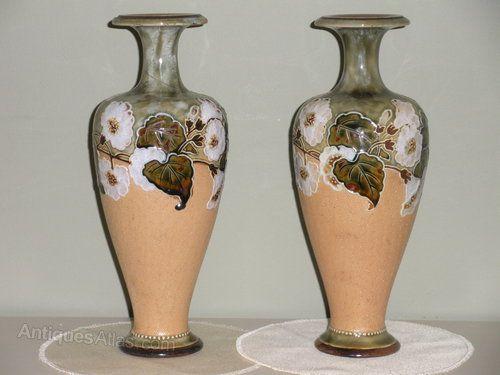 Pair Of Royal Doulton Vases Ceramics Pinterest Royal Doulton