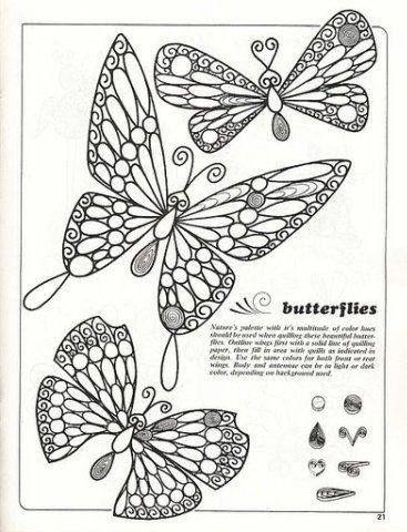 Muster für Schokoladefigur zu Torten  - Schmetterling