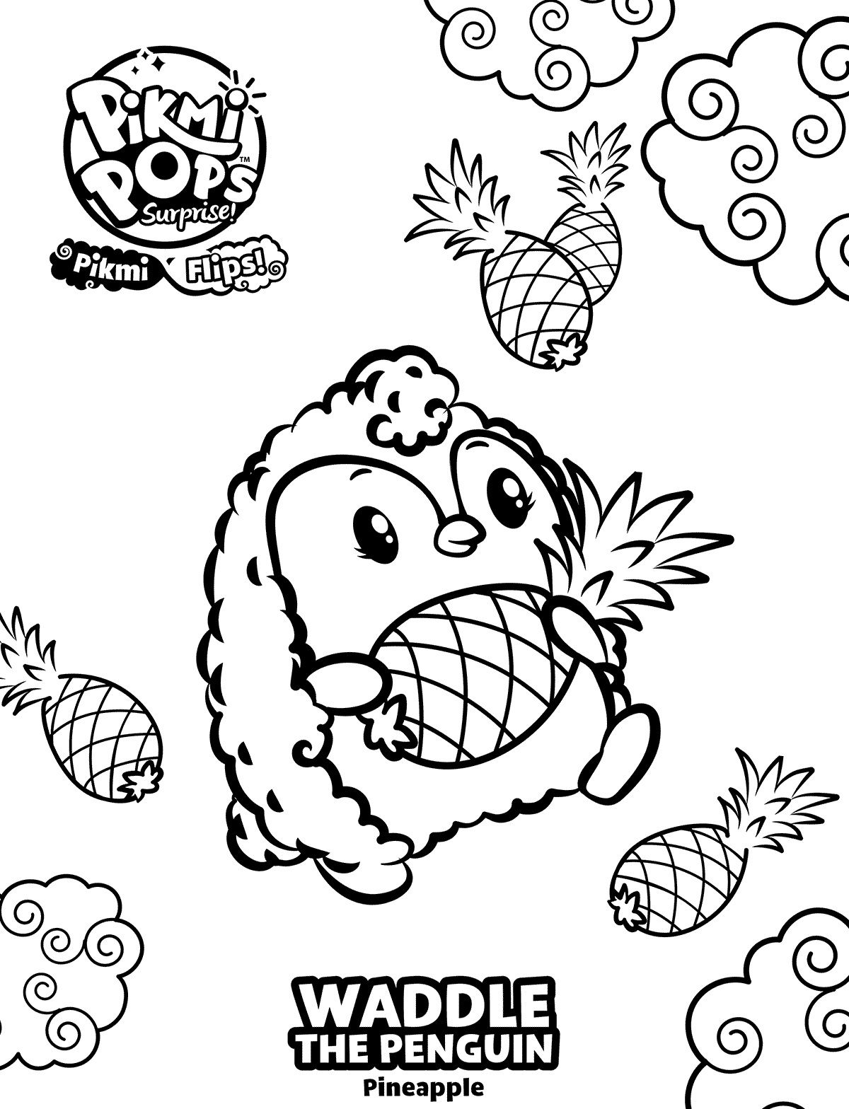 Pikmi Pops Coloring Pages Best Coloring Pages For Kids Coloring Pages Animal Coloring Books Coloring Books