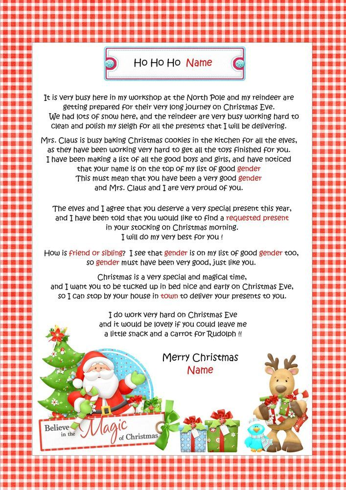 Personalised letter from santa father christmas north pole personalised letter from santa father christmas north pole envelope d11 spiritdancerdesigns Choice Image