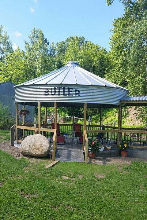 This DIY Grain Silo Gazebo Is the Perfect Summer Hangout